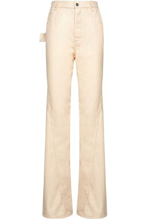 Bottega Veneta Cotton Twill Straight Leg Pants