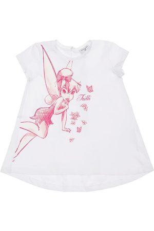 MONNALISA Tinker Bell Print Cotton Jersey T-shirt