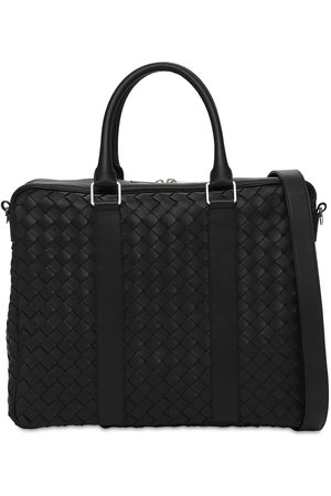Bottega Veneta Men Laptop Bags - Hydrology Intreccio Leather Briefcase