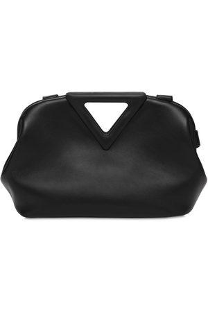Bottega Veneta Women Bags - Triangle Leather Top Handle Bag