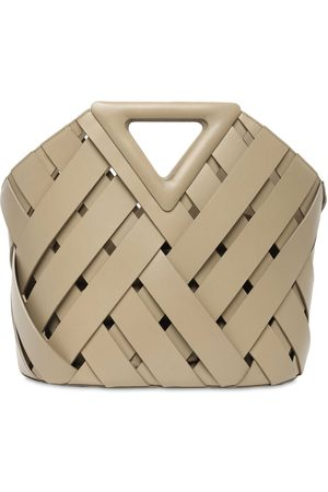 Bottega Veneta Women Bags - Leather Intrecciato Top Handle Bag