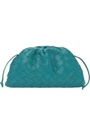 Bottega Veneta Women Clutches - The Mini Pouch Intreccio Leather Clutch