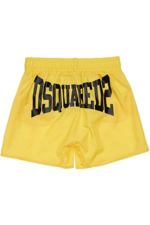 Dsquared2 Logo Print Nylon Swim Shorts