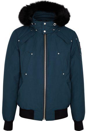 Moose Knuckles Ballistic fur-trimmed cotton-blend bomber jacket