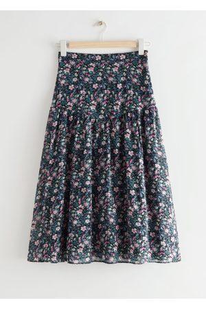 & OTHER STORIES Printed Chiffon Midi Skirt