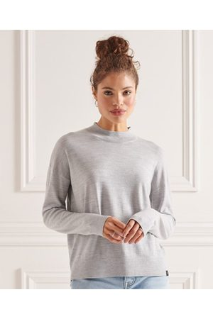 Superdry Women Sweaters - Merino Mock Neck Jumper
