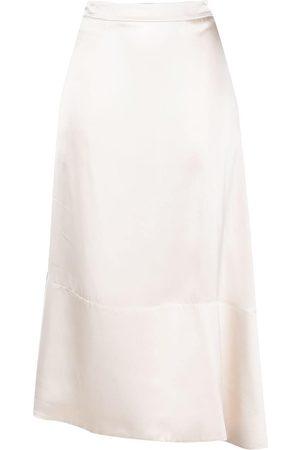 Jil Sander Women Asymmetrical Skirts - Asymmetric hem skirt - Neutrals