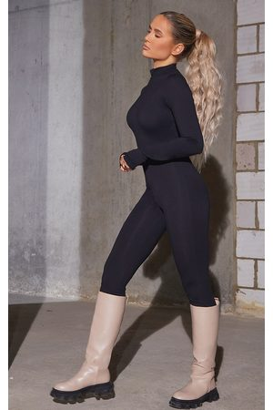 PRETTYLITTLETHING Cotton Zip Front Catsuit