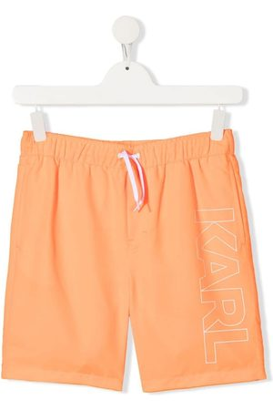 Karl Lagerfeld TEEN logo-print swim shorts