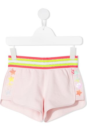 Billieblush Girls Shorts - Striped-waist cotton shorts