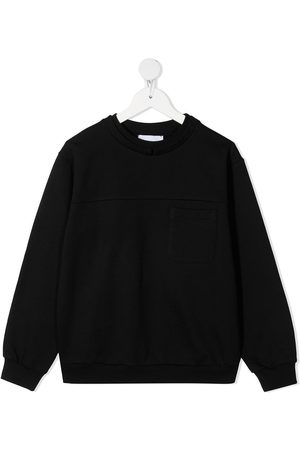 Dondup Boys Hoodies - Metallic logo print sweatshirt