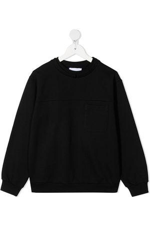 DONDUP KIDS Metallic logo print sweatshirt