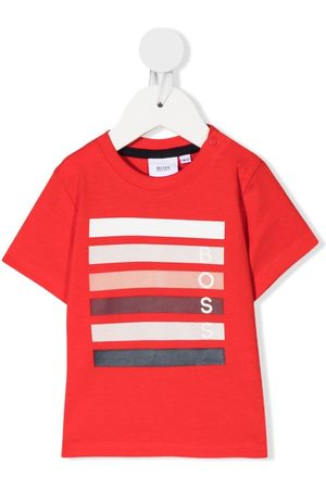 HUGO BOSS Striped logo T-shirt