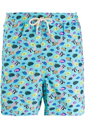 MC2 SAINT BARTH Fish print swim shorts