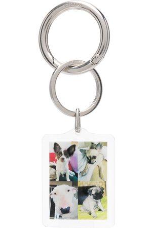 Balenciaga I Love Dogs keyring - Neutrals