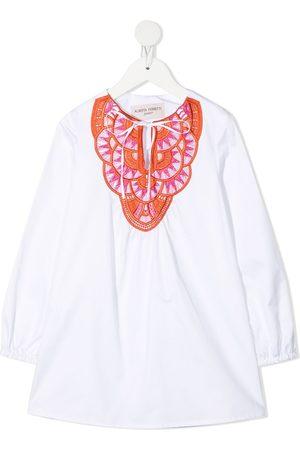 Alberta Ferretti Embroidered neck tunic