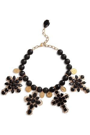 Dolce & Gabbana Women Necklaces - Cross-pendant rhinestone-detail necklace