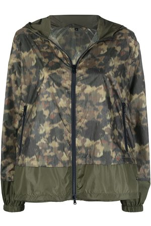 FAY Camouflage-print hooded jacket