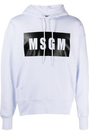 Msgm Men Hoodies - Logo-print hoodie