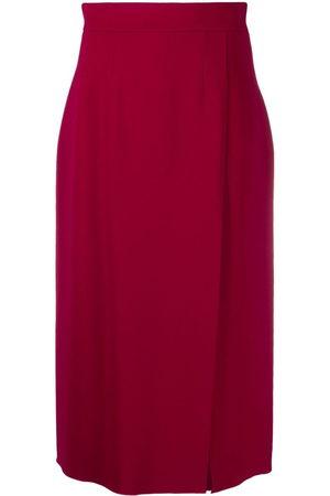 Dolce & Gabbana High-waist slit midi skirt