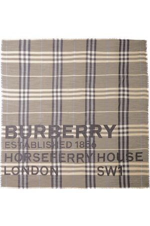 Burberry Horseferry print check-pattern scarf