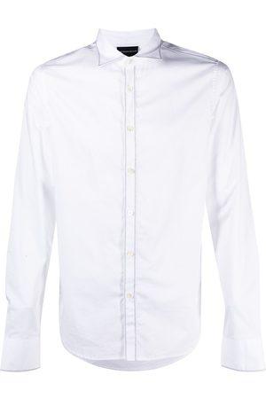 Emporio Armani Spread-collar long-sleeve shirt