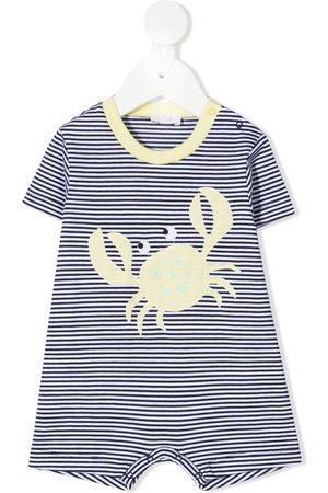 Il gufo Striped crab romper