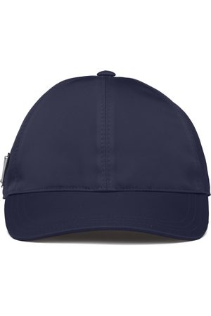 Prada Men Caps - Re-Nylon triangle logo cap