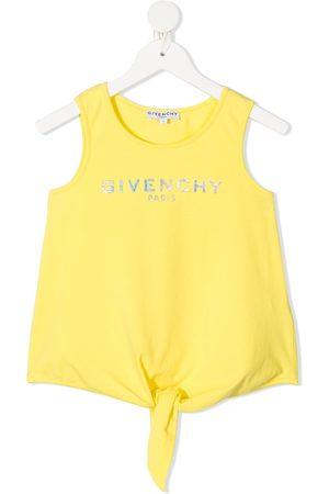 Givenchy Girls Tank Tops - Logo print tank top