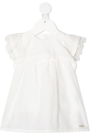 Chloé Baby Casual Dresses - Lace-trimmed short-sleeved dress
