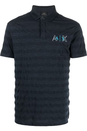 Armani Men Polo Shirts - Embroidered-logo cotton-blend polo shirt
