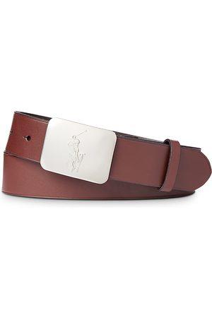 Polo Ralph Lauren Men Belts - Pony Plaque Leather Belt
