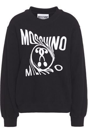 Moschino Women Sweatshirts - Woman Printed French Cotton-blend Terry Sweatshirt Size 36