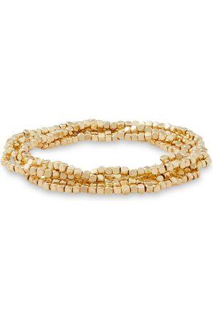 Shashi Women Bracelets - Woman Set Of Five 18-karat -plated Bracelets Size