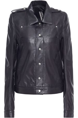 DRKSHDW BY RICK OWENS Women Leather Jackets - Woman Leather Biker Jacket Size 38