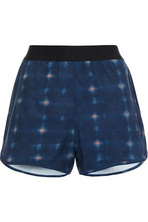 The Upside Woman Liv Printed Stretch Shorts Navy Size 10