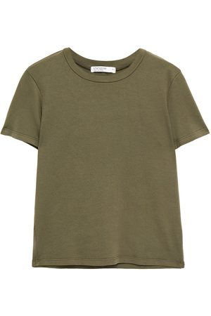 Stateside Women Short Sleeve - Woman Stretch-cotton Jersey T-shirt Army Size L