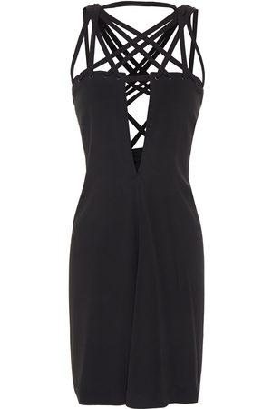 Rick Owens Woman Megalace Crepe Mini Dress Size 42