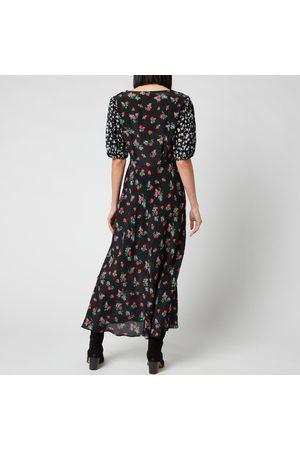 RIXO London Women Printed Dresses - Women's Cressida Sweetheart Puff Sleeve Midi