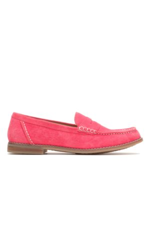 Hush Puppies Women Loafers - Women's Wren Loafer Loafers, Size 7 Wide Width, Soft Suede