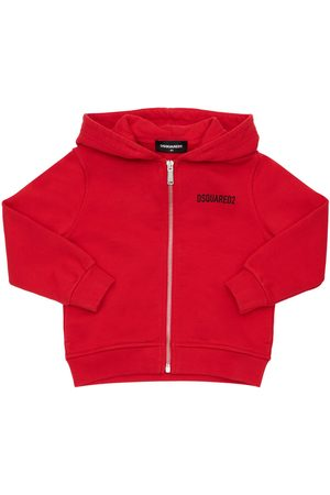 Dsquared2 Girls Sweatshirts - Icon Print Cotton Zip-up Sweatshirt