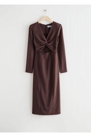 & OTHER STORIES Women Midi Dresses - Side Slit Cut Out Midi Dress