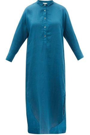 Mes Demoiselles Puglia Buttoned Linen Shirt Dress - Womens