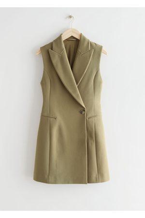 & OTHER STORIES Women Bodycon Dresses - Fitted Sleeveless Blazer Mini Dress
