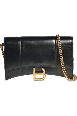 Balenciaga Leather Hour Wallet W/chain