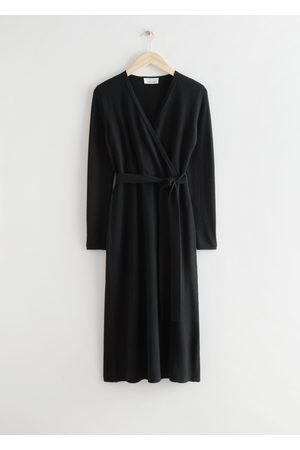 & OTHER STORIES Belted Merino Wool Knit Midi Dress
