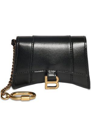Balenciaga Leather Hour Card Case W/chain