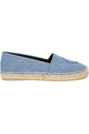Stella McCartney Selene logo denim espadrilles