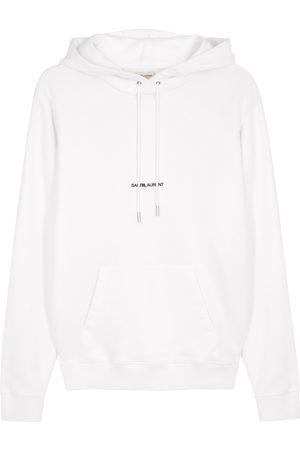 Saint Laurent Logo hooded cotton sweatshirt