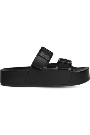 Balenciaga Men Sandals - Mallorca Soft Leather Platform Sandals